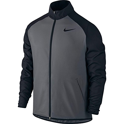 New Nike Men's Dry Team Training Jacket Dk Grey/Black/Black X-Large