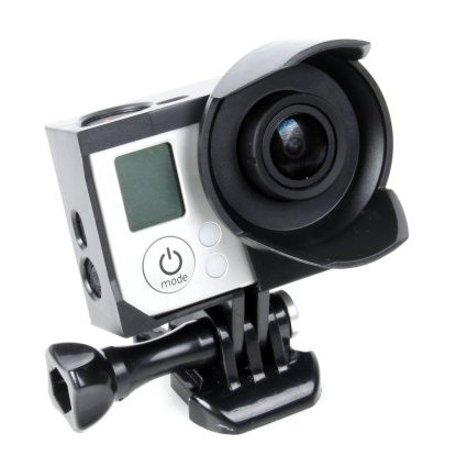 Upgraded! Mudder Unique Frame Mount Housing With Lens Hood For Gopro Hero 3 And Hero 3+ Cameras, Include Quick Release Buckle And Thumbscrew (Black)