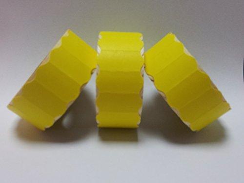 CT426mm x 12mm Prix Gun Labels-Étiquettes-jaune pelables-30rouleaux/45000étiquettes