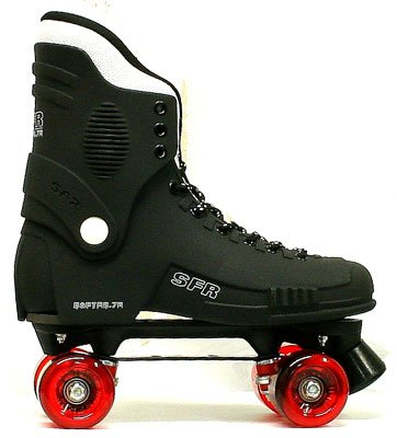 Raptor 76 Quad Roller Skate Clear Red Wheels Size 6