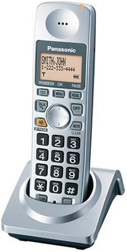 Panasonic Kx-Tga101S Extra Handset With Charger For Kx-Tg1032S, Kx-Tg1033S, Kx-Tg1034S Cordless Phones, Silver front-54798