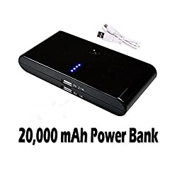 Black 20000mAh USB Power Bank Charger External Battery for iPhone iPad HTC MY-4005