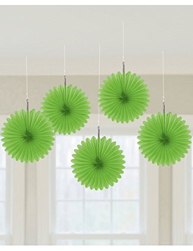 Mini Hanging Fan Deco Lime Gr 5 Ct [6 Retail Unit(s) Pack] - 29055.53