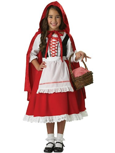 Elite Little Red Riding Hood Child Costume Bundle With Accessories ( SIZE S )