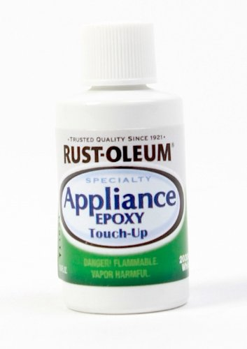 Rust-Oleum 203000 .6-Ounce Specialty Brush Bottle Appliance Touch Up, White