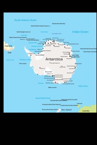 map-of-antarctica-journal-150-page-lined-notebook-diary