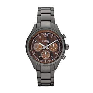Buy Fossil CH2822 Flight Stainless Steel Watch, Smoke by Fossil