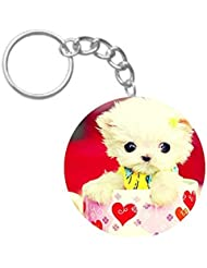 Cute Teddy Toy | ShopTwiz Circle Printed Key Rings