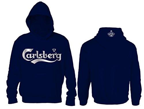 Felpa Carlsberg Unofficial (M, Blu Navy)