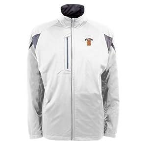 Syracuse Orangemen NCAA Highland Mens Full Zip Sports Jacket (White) by Antigua