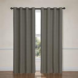 Eclipse Bobbi Grommet Blackout Window Curtain Panel, 84-Inch, Pewter