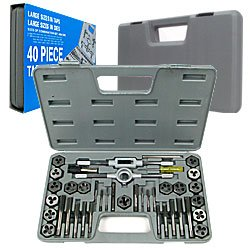40 Pc Premium Tap & Die Set Combo Metric & SAE. Product Category: Hardware > Miscellaneous