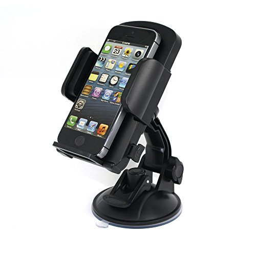 360 Degree Rotations Premium Quality One Touch Universal Car Windshield Mount Holder Cradles for iPhone 6,5S,5C,5,4S,4, Samsung Galaxy S5,S4,S3,Note 2,Note3,HTC ,Sony, other Smart Phones, PDAs or Medi