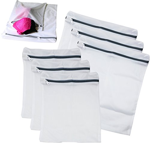 6 Pack - SimpleHouseware Laundry Bra Lingerie Mesh Wash Bag (3 Large and 3 Medium) (Washer Lingerie Bag compare prices)