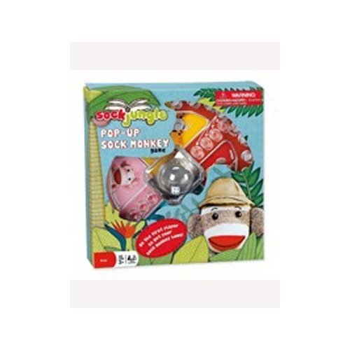 Sock Jungle Sock Monkey Pop-up Dice Board Game Age 4+
