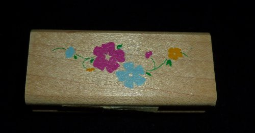 String Of Flowers Rubber Stamp - 1