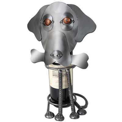 Labrador Dog Wine Bottle Holder or Wine Caddy by H&K Steel Sculpture - 6213-LI
