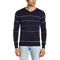 Pepe Jeans Men's Cotton Sweater (8903872576845_KEETON LS_Small_Navy)