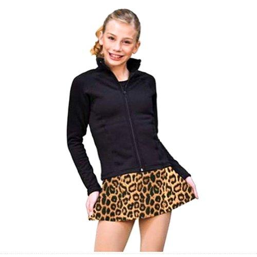 Chloe Noel Girls Size 6/8 Brown Leopard A Line Figure Skating Skirt front-12020