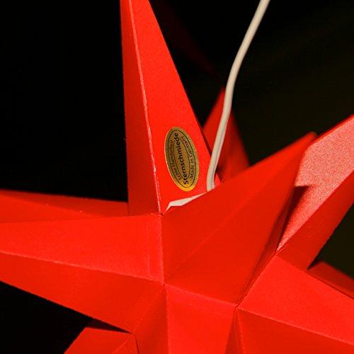 3er set beleuchtete sterne aus papier 2x gelb 1x rot. Black Bedroom Furniture Sets. Home Design Ideas
