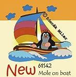 Der kleine Maulwurf im Boot 61142 Wandlampe Holz 37x34 cm