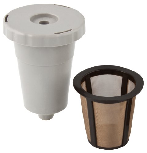 Gold Tone 1-Cup Reusable Coffee Filter Starter Pack, White
