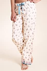 Limited Collection Pure Cotton Owl Print Pyjama Bottoms [T37-2451-S]