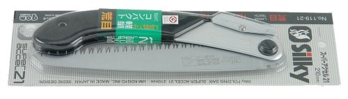 Silky Folding Landscaping Hand Saw SUPER ACCEL 210 Large Teeth 119-21