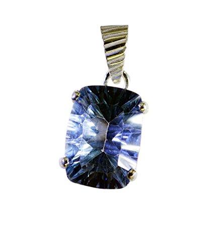 Riyo Blue Mystic quarzo silver forniture gioielli ciondolo d'argento all'ingrosso l 1in spbmq-55003