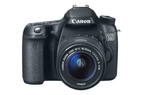Canon EOS 70D Fotocamera Reflex Digitale, 20.2 Megapixel con Obiettivo EF-S 18-55mm IS STM, Nero/Antracite