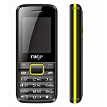 Rage Prince (Black+Yellow) Colour Dual SIM Mobile With Camera & FM Radio