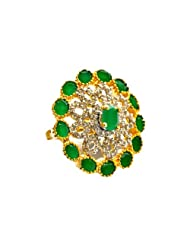 Orne Jewels Diamond Emerald Cocktail Ring For Women - B00IO9D7EK