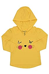 Chirpie Pie by Pantaloons Girl's Hooded T-Shirt (205000005610539, Yellow, 3-6 Months)