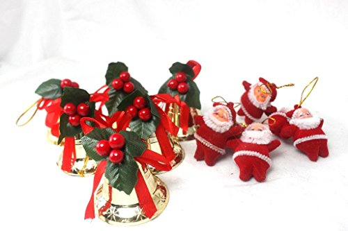 大量 セット クリスマス ツリー 飾り ベル サンタ オーナメント (a ミックス 19個 セット)
