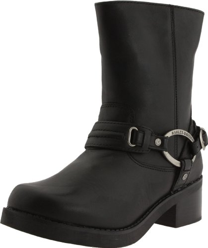 Harley-Davidson Women&#8217;s Christa Harness Boot ,Black,9 M US