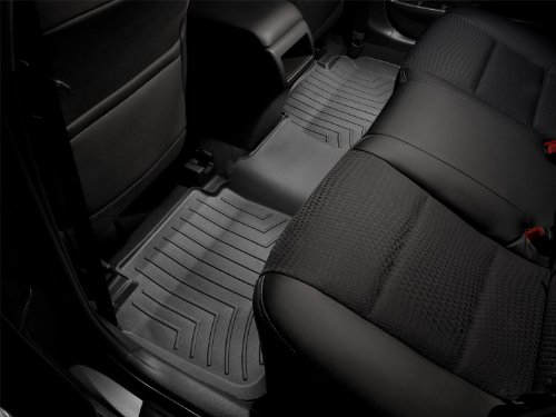 WeatherTech Custom Fit Rear FloorLiner for Porsche Cayenne/Volkswagen Touareg (Black) (2006 Cayenne Weathertech compare prices)