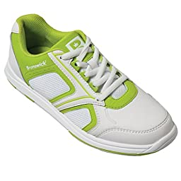 Brunswick Ladies Spark Bowling Shoes- White/Lime (8 M US, White/Lime)