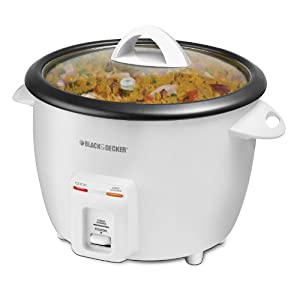 Low Price Black & Decker 14-Cup Rice Cooker, White