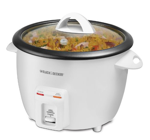 Best Review Of Black & Decker 14-Cup (cooked) Rice Cooker, White (holds 8 cups dry rice)