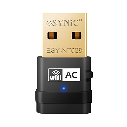 eSynic, ESYNiC Clé WiFi AC600 USB WiFi Dual Bande 5G 433Mbps 2.4G 150Mbps  Norme IEEE 802.11 e50ae8a00826
