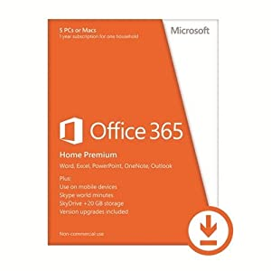 Microsoft Office 365 Home Premium for Windows, 5 PCs - Download AAA-04258