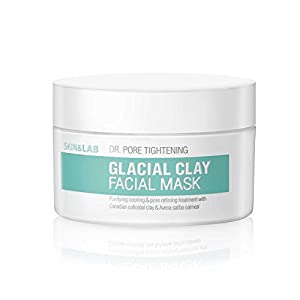 SKIN&LAB Dr. Pore Tightening : Glacial Clay Facial Mask 100ml, Pore Tightening and Refining, Contains Glacial Soils & Oatmeal