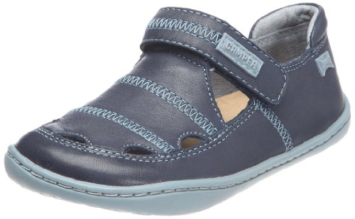 Camper Unisex - Children Peu Cami Flat Shoes Peu Cami-Bleu Blue 2 UK