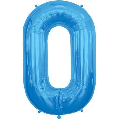 Blue Letter O 34 Inch Foil Balloon