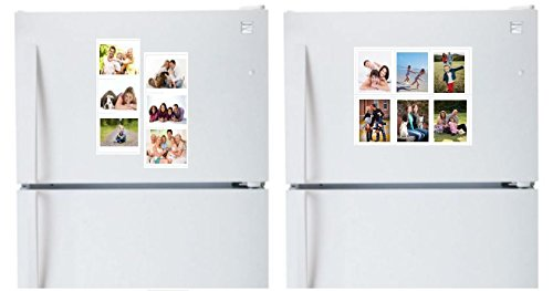 Set of 7 Colorful Magnetic Picture Frames for Refrigerator with ...