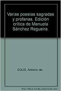 Varias poesías sagradas y profanas. Edición crítica de Manuela
