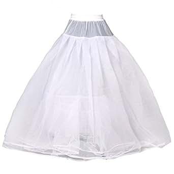 HIMRY Design Jupon de Mariée en Crinoline de Qualité, 4 Couches, Taille Unique, Adéquat pour Taille XS, Taille S, Taille M, Taille L, Taille XL, Taille XXL, Blanc, KXB-0021