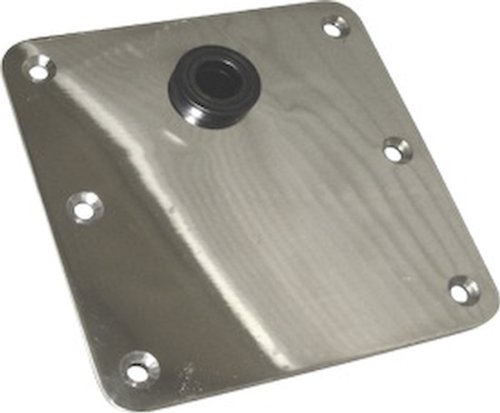 Seasense Seat Deck Base - 7-Inch X 7-Inch Off Centered Stainless Steel Mirror