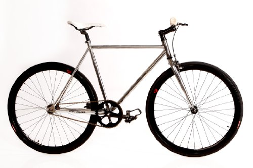 Retrospec Beta Series Single Speed with Flip Flop Hub, 57 cm/Large, Millenium Bean Chrome Frame and Black Wheels
