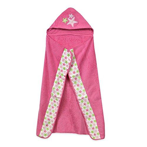 Just Born Sea Brights Starfish Hooded Bath Wrap, Pink